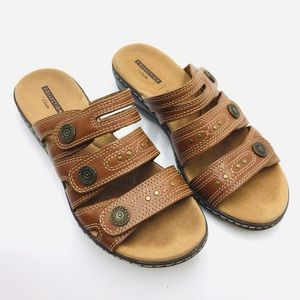 Clark's Sandal Collection Brown Leather Sandals